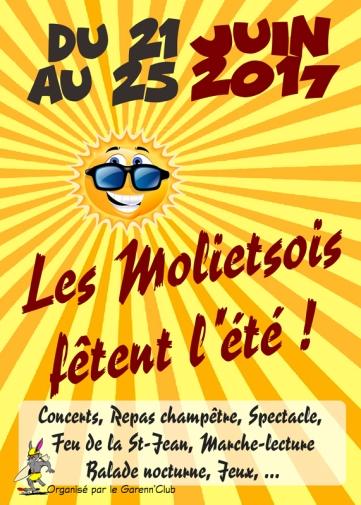 Les Molietsois fêtent l'été (21-25 juin 2017)