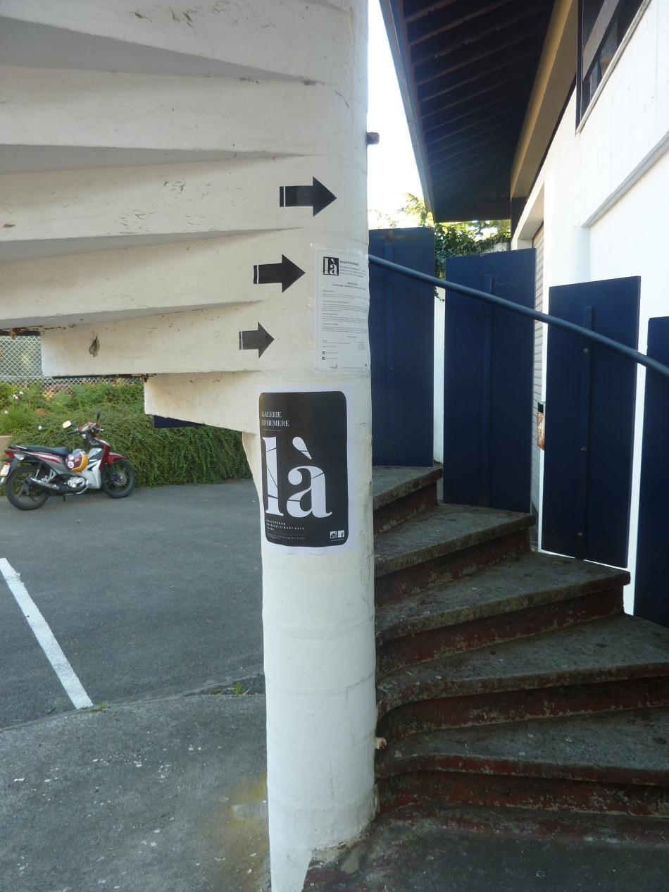 L'escalier à colimaçons donnant accès à Galerie Éphémère - là
