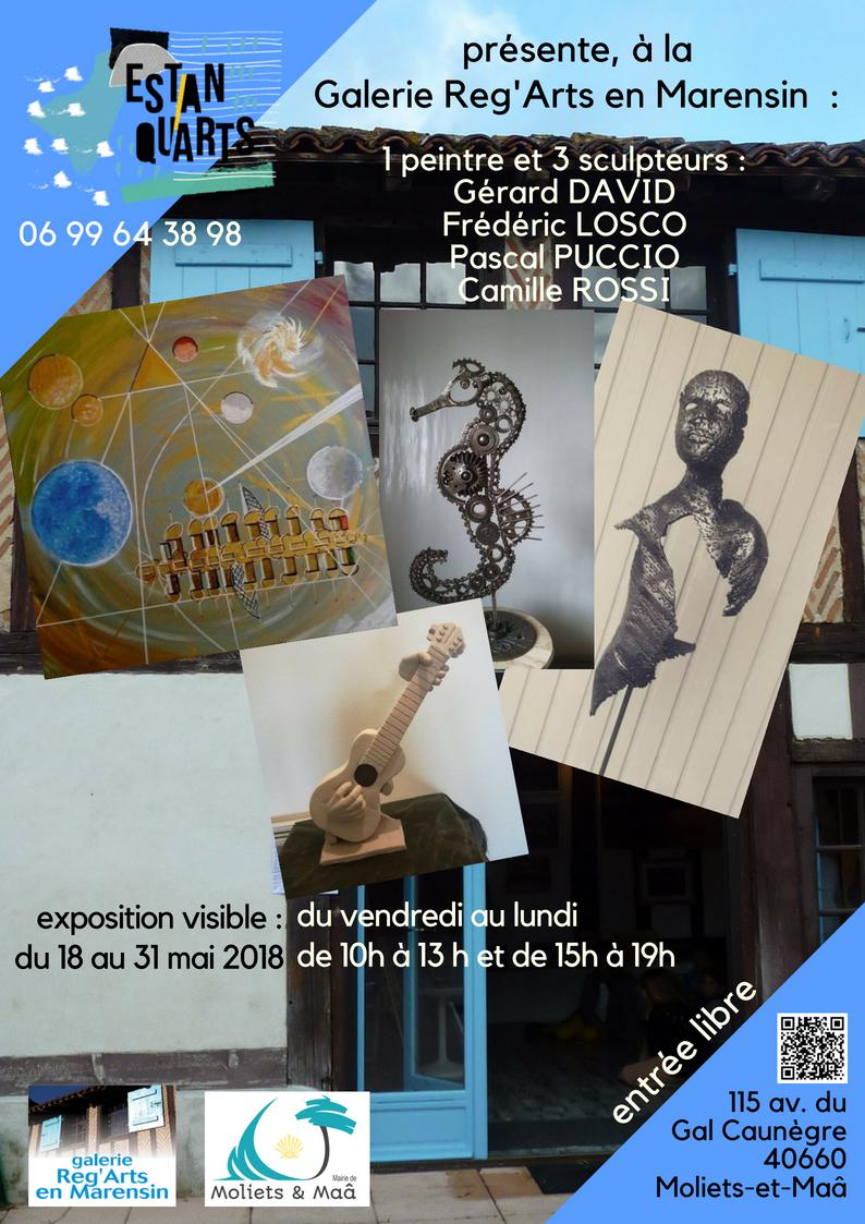 Exposition estanqu'Arts Reg'Arts en Marensin mai 2018