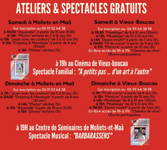 Programme FB 4 Ateliers et Spectacles